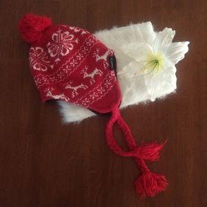 Tundra Christmas Winter Reindeer Stocking Cap Hat